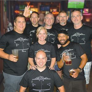 Dallas office Beer Pong team picture at Las Vegas Retreat
